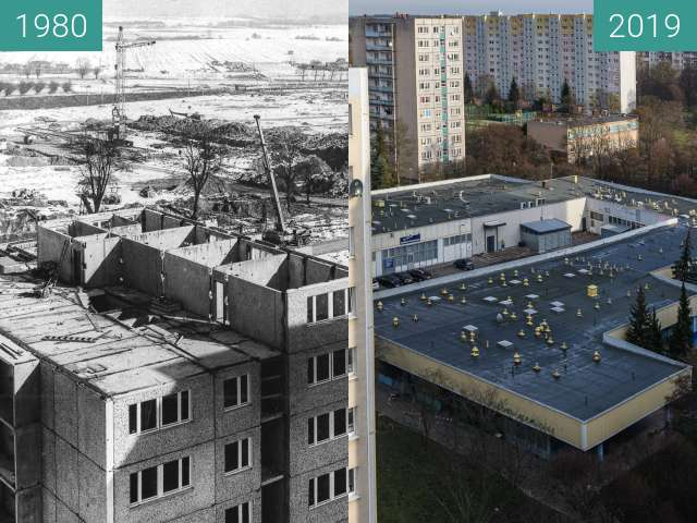 Before-and-after picture of Osiedle Jana III Sobieskiego between 1980 and 2019