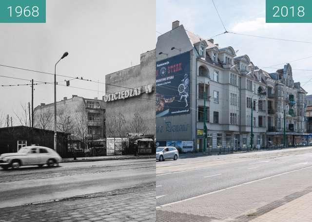 Vorher-Nachher-Bild von Ulica Głogowska zwischen 1968 und 2018