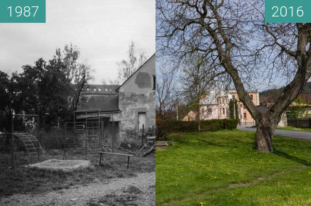 Before-and-after picture of School building between 1987 and 2016-May-05