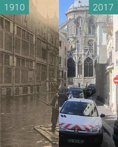 Vorher-Nachher-Bild von Rue Massilon (Jahrhundertflut) zwischen 01.1910 und 10.06.2017