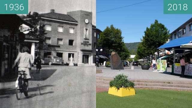 """Vorher-Nachher-Bild von """"Asker Sparebank"""" 1936, Asker, Norway. zwischen 1936 und 04.08.2018"""