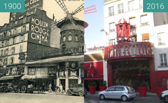 Vorher-Nachher-Bild von Moulin Rouge zwischen 1925 und 21.01.2016