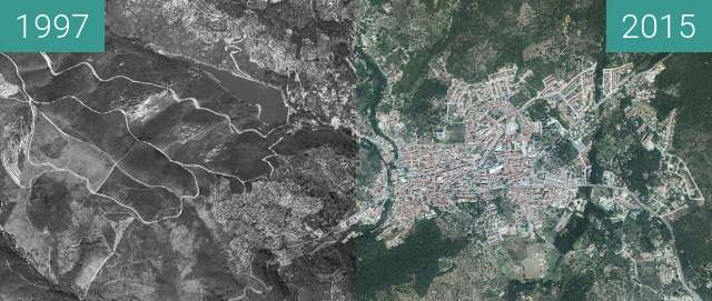 Before-and-after picture of Evolución urbana between 1997 and 2015