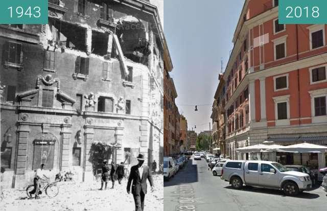 Vorher-Nachher-Bild von San Lorenzo, Rome zwischen 07.1943 und 29.03.2018