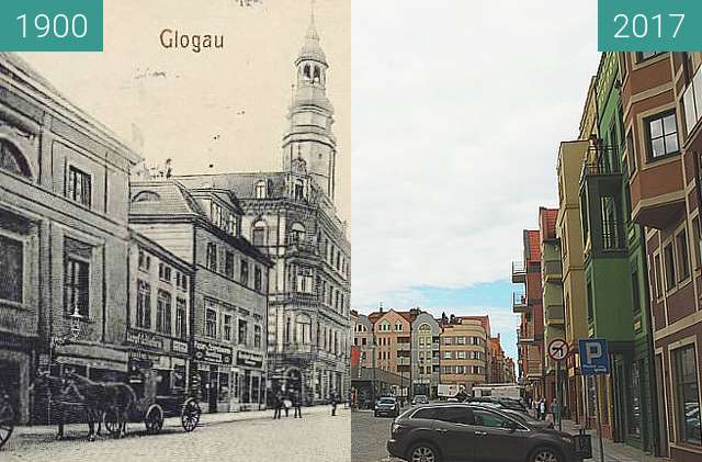 Before-and-after picture of Market - North Side between 1900 and 2017