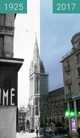 Before-and-after picture of Rue Saint Jean  between 1925 and 2017-Dec-30