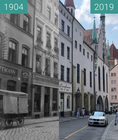 Vorher-Nachher-Bild von Burgstr_1904_08_06 zwischen 06.08.1904 und 08.2019