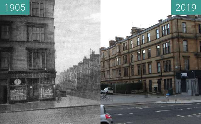 Before-and-after picture of Albert Road between 1905 and 2019-Mar-24