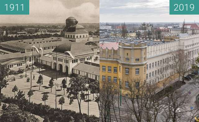 Before-and-after picture of Ulica Bukowska, Wystawa Wschodnioniemiecka between 1911 and 2019-Mar-07