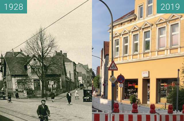 Before-and-after picture of Süntelstraße 1928 between 1928 and 2019-Jun-24