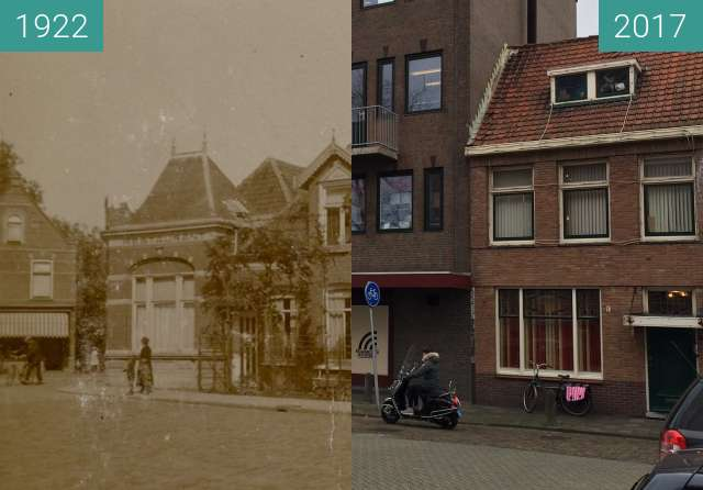 Before-and-after picture of Alkmaar, Scharloo/Zocherstraat between 1922 and 2017