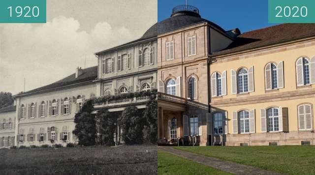 Before-and-after picture of Stuttgart - Schloss Hohenheim between 1920 and 2020-Nov-14