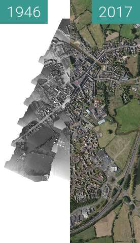 Before-and-after picture of Plan Isigny sur mer between 1946 and 2017