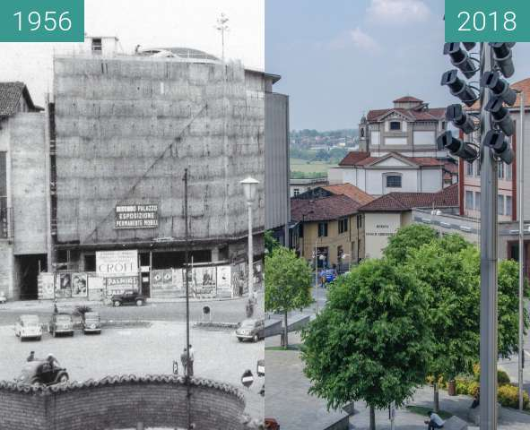 Before-and-after picture of Piazza between 1956 and 2018