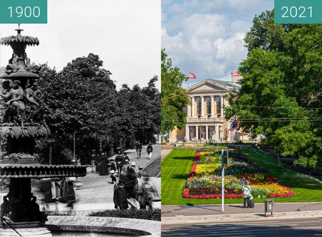 Before-and-after picture of Oper Halle between 1900 and 2021-Jul-29