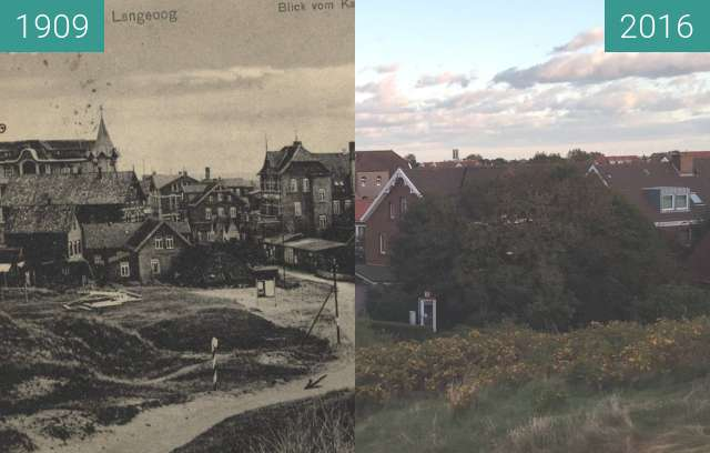 Before-and-after picture of Blick vom Kap between 1909 and 2016-Oct-05