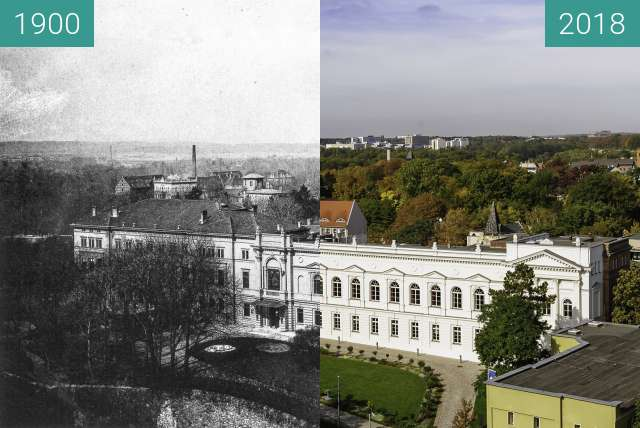 Before-and-after picture of Leopoldina between 1900 and 2018