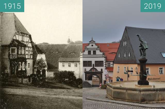 Before-and-after picture of Lauenstein between 1915 and 2019-Nov-24
