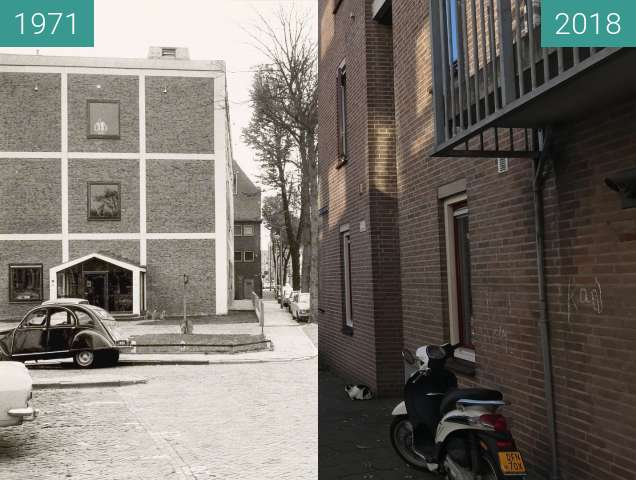 Before-and-after picture of The Heul in Alkmaar between 1971-Oct-10 and 2018-Nov-06