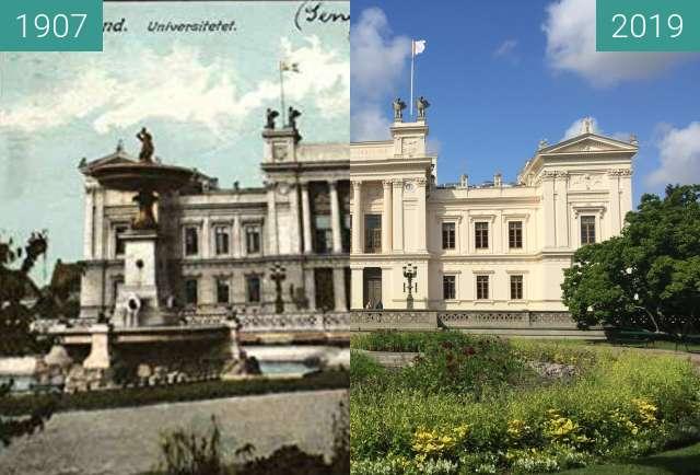 Vorher-Nachher-Bild von Lund University zwischen 1907 und 16.08.2019