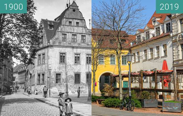 Before-and-after picture of Stadtmuseum between 1900 and 2019-Mar-22