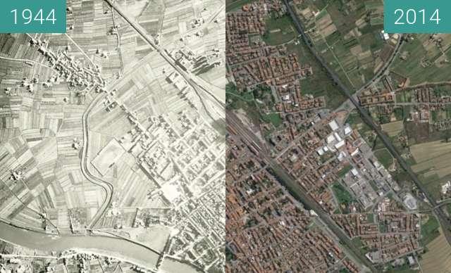 Vorher-Nachher-Bild von Bombing of Empoli zwischen 13.08.1944 und 2014