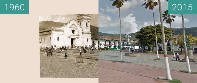 Before-and-after picture of Plaza de la constitución between 1960 and 04/2015
