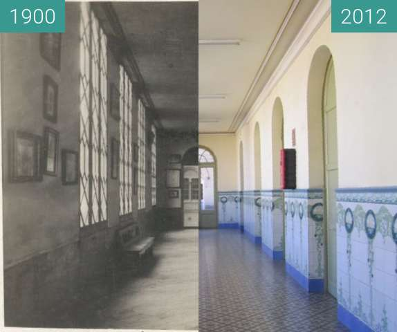 Before-and-after picture of Passadís between 1900 and 2012