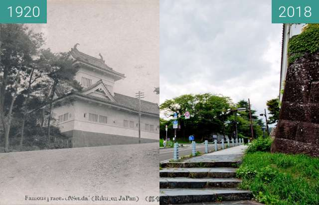 Before-and-after picture of Former Japanese Imperial Army 2nd Division between 1920 and 2018-Aug-28