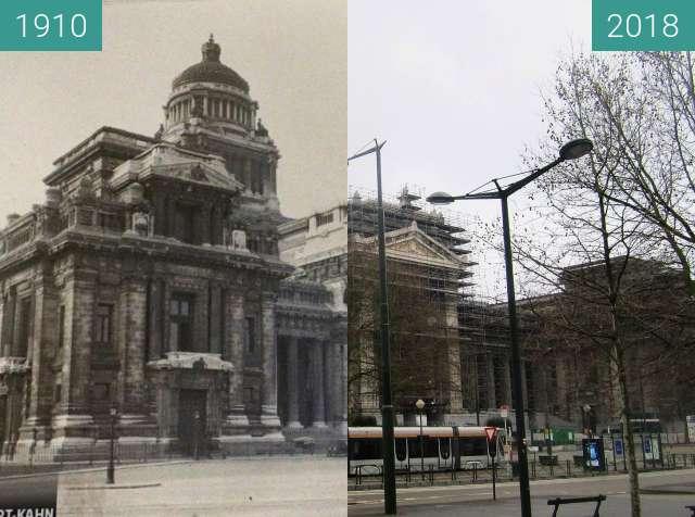 Vorher-Nachher-Bild von Justizpalast (Brüssel) zwischen 1910 und 01.04.2018
