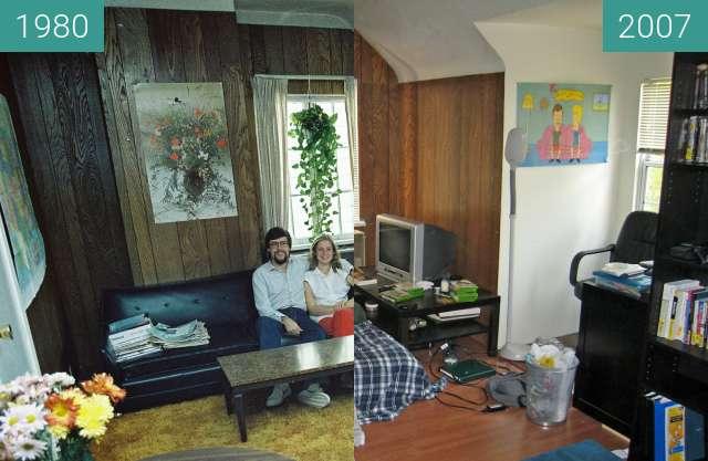 Vorher-Nachher-Bild von Studentenzimmer zwischen 01.09.1980 und 29.06.2007