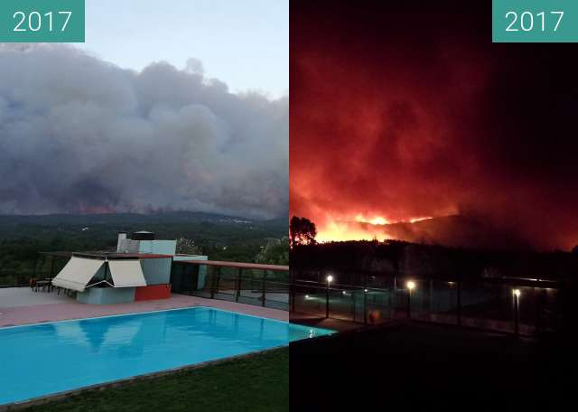Before-and-after picture of Waldbrand in Pedrogao Grande between 2017-Oct-15 and 2017-Oct-15