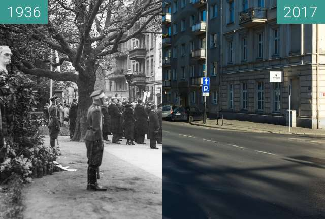 Before-and-after picture of Ulice Solna / Wolnica between 1936-May-12 and 2017