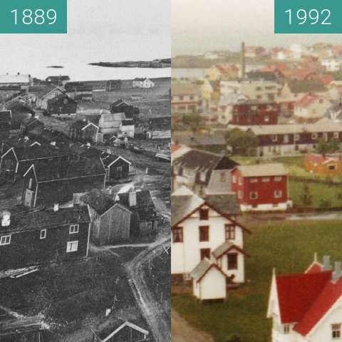 Before-and-after picture of Andenes (Vesterålen - Norway) between 1889 and 1992