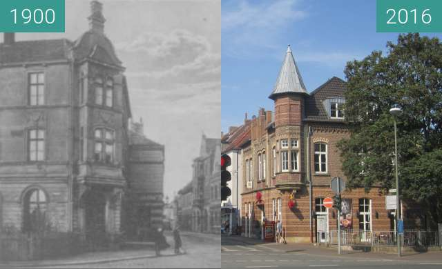 Before-and-after picture of Essener Tor between 1900 and 2016-Aug-27