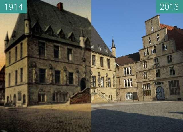 Vorher-Nachher-Bild von Das Osnabrücker Rathaus zwischen 1914 und 23.07.2013