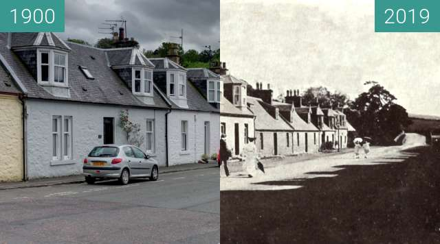 Before-and-after picture of Main Street - Dalrymple between 1900 and 2019-Mar-14