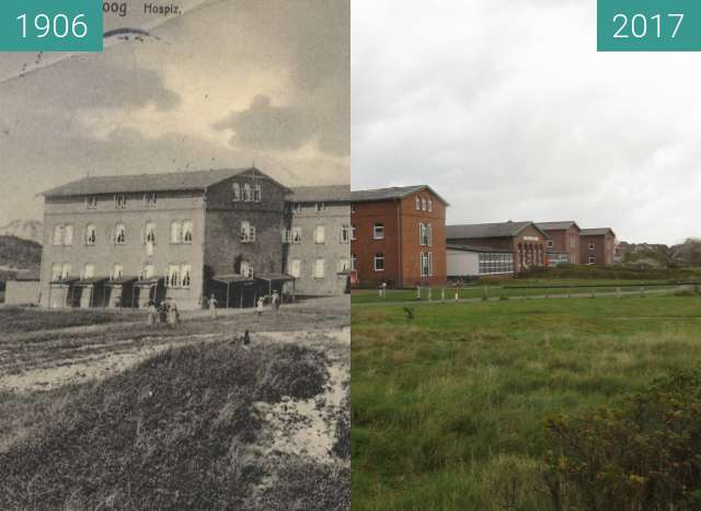 Before-and-after picture of Haus Kloster Loccum between 1906 and 2017-Oct-04