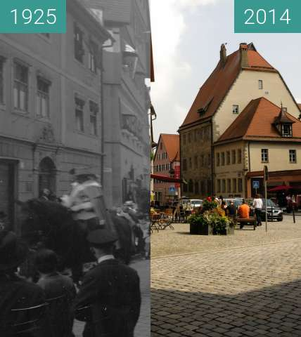 Before-and-after picture of Dinkelsbühl 1920/1930 - 2017 between 1925 and 2014-Sep-06
