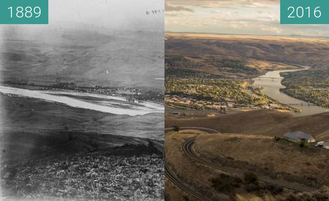 Before-and-after picture of Lewiston Idaho 05-1889 between 05/1889 and 2016-Sep-18