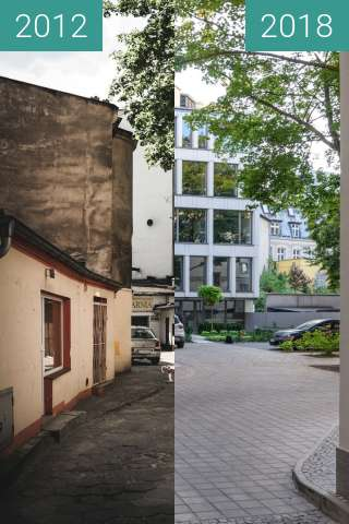 Before-and-after picture of Ulica 3 Maja between 2012 and 2018