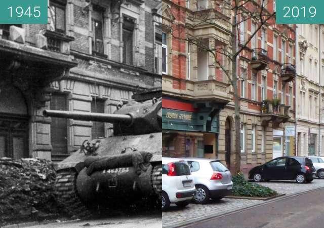 Vorher-Nachher-Bild von Karlsruhe zwischen 04.1945 und 10.01.2019