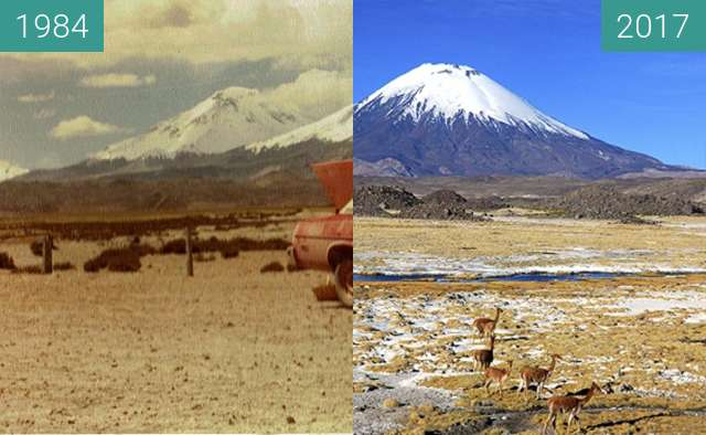 Before-and-after picture of PARQUE LAUCA between 1984 and 2017