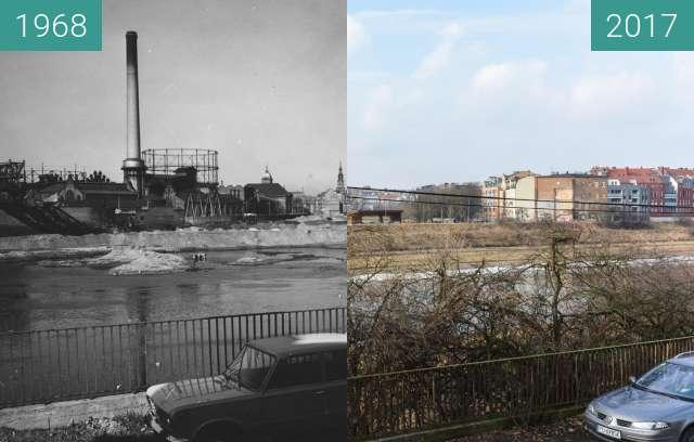 Vorher-Nachher-Bild von Warta river zwischen 29.01.1968 und 19.02.2017
