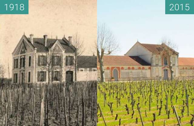 Before-and-after picture of chateau la croix figeac  between 1918-Nov-08 and 2015-Apr-08