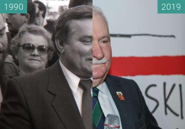 Vorher-Nachher-Bild von Lech Wałęsa over 30 yrs (2°Michal Trojanowski) zwischen 17.10.1990 und 10.2019