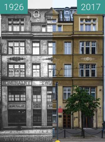 Before-and-after picture of Ulica 27 Grudnia between 1926 and 2017-Jun-15