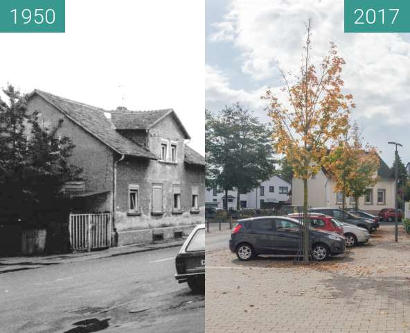 Before-and-after picture of Bad Homburg Gonzenheim, Frankfurter Landstr 122 between 1950 and 2017-Oct-03