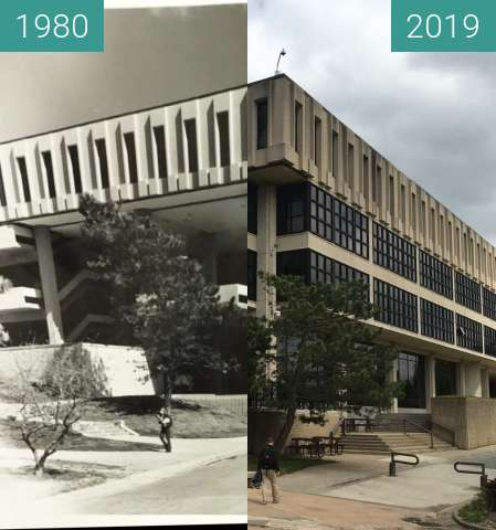 Before-and-after picture of KU Rephotography between 1980 and 2019-May-02