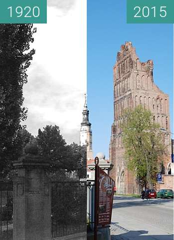 Before-and-after picture of Poststrasse (Staromiejska) between 1920 and 2015